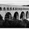 Pont du Gard Noir et Blanc