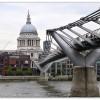 Millenium Bridge et St Paul Cathedral