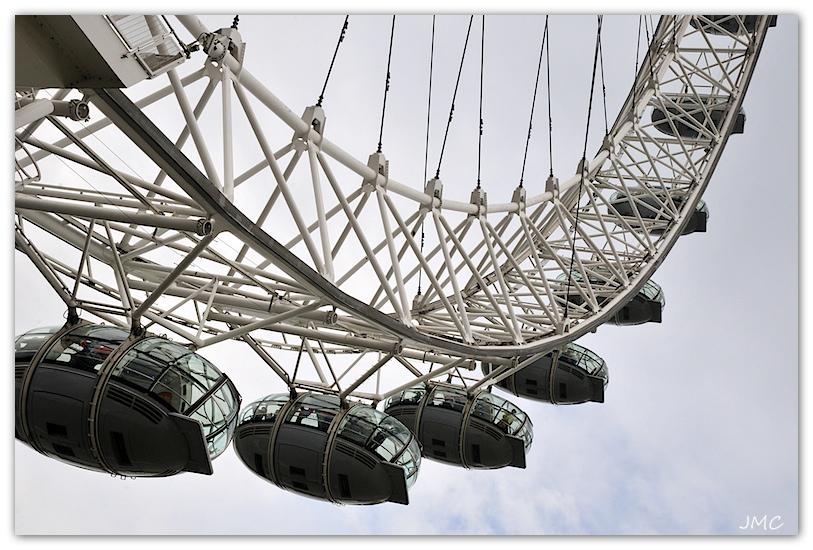 A l'approche de London Eye